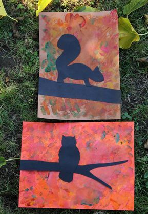 Fall Tree Silhouette Art Project | Make and Takes