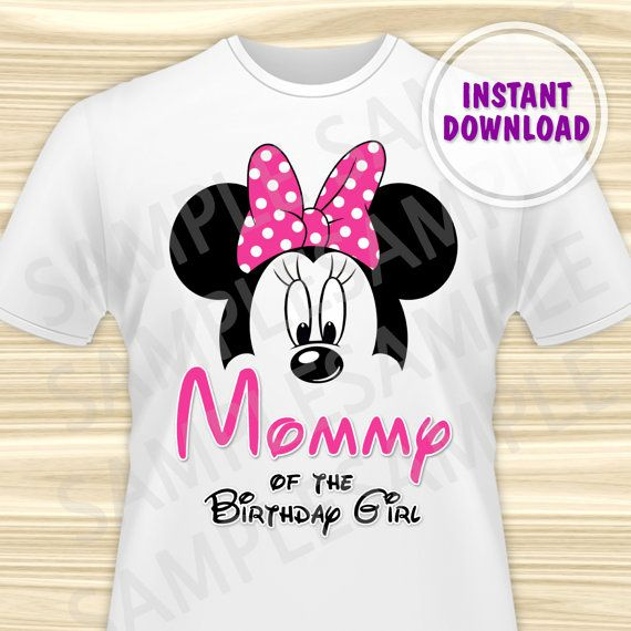 Minnie Mouse Mom Of The Birthday Girl Iron On Minnie Mouse Birthday