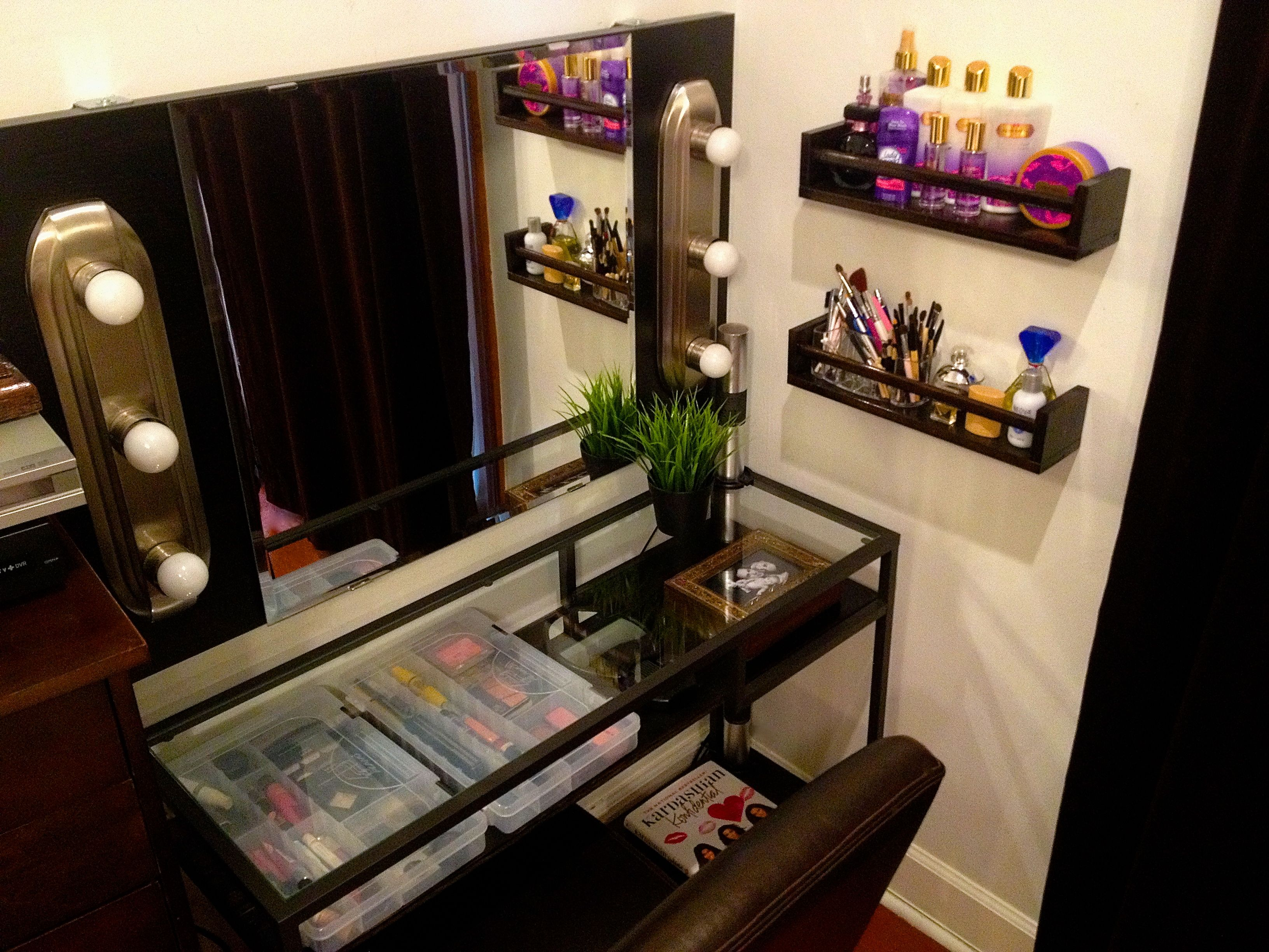 Badezimmer dekor eitelkeit my hubby just finished my diy vanity  love it  thanks my love