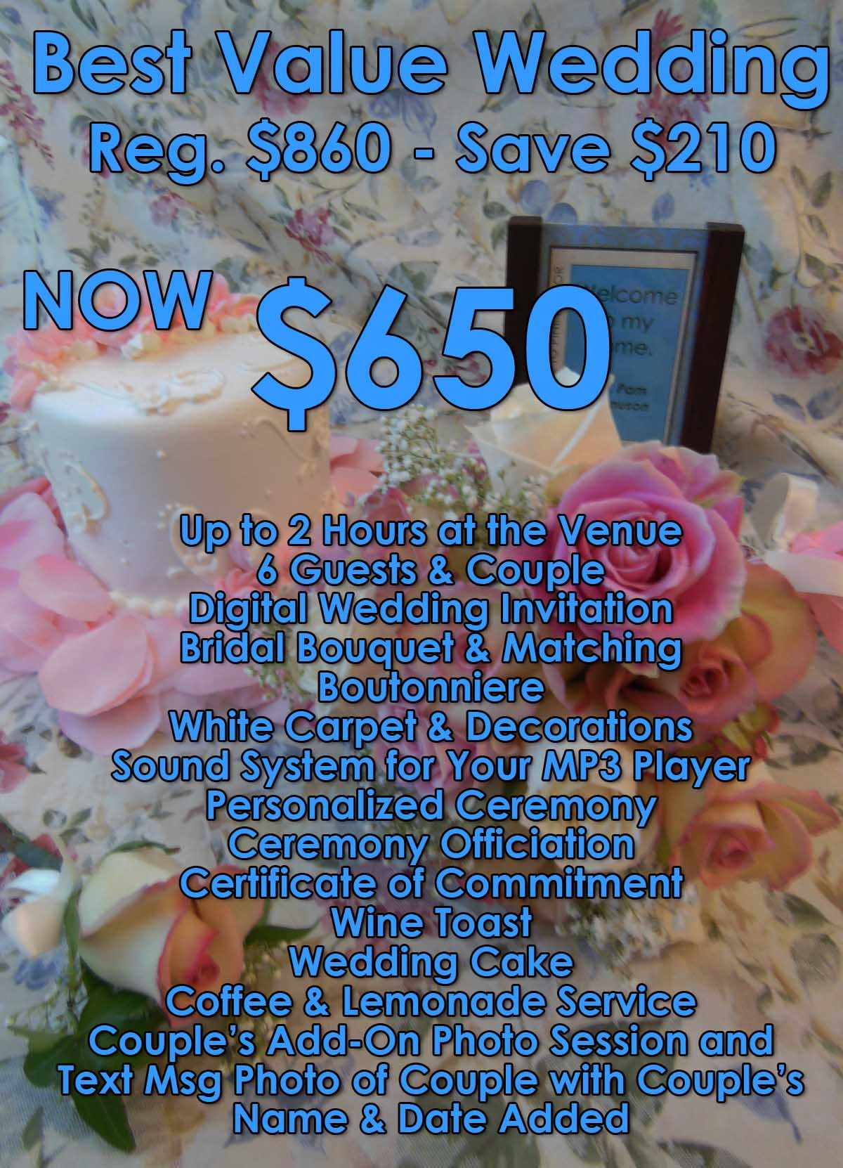 Best Value Wedding Packages Budget Wedding Ideas Small