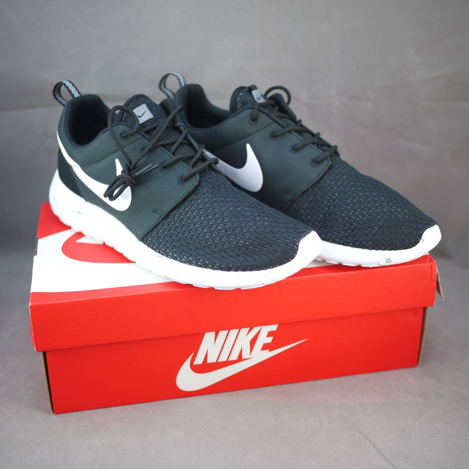 Nike Roshe Run Men 669985-001 Black / White-Cool Grey ...