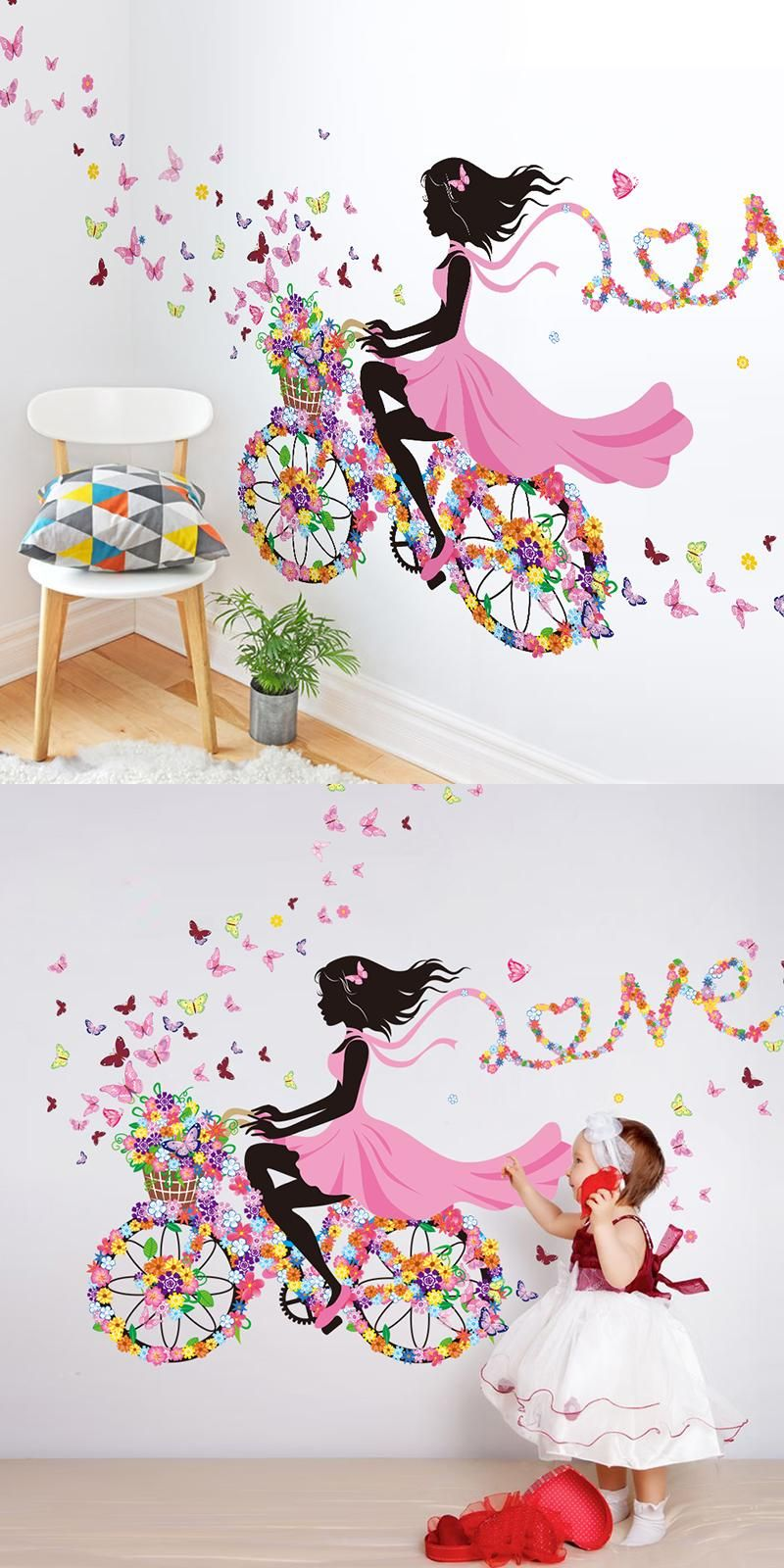 Visit to buy diy wall decor dancing girl art wall stickers for kids