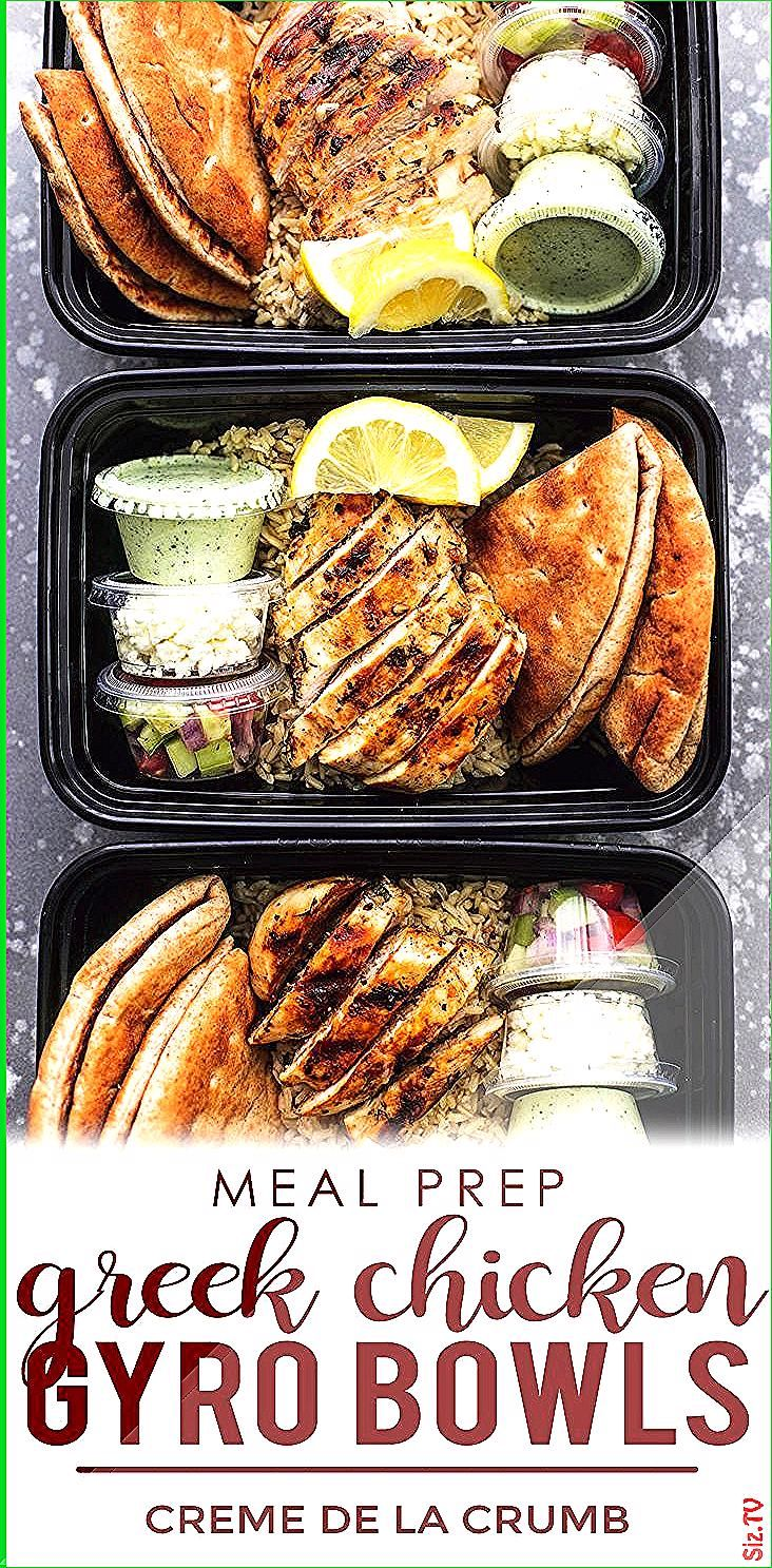 Easy and healthy Meal Prep for the week  for Beginners These Greek Chicken Gyr beginners Chicken Eas...