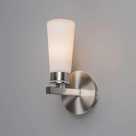Badezimmer Wandleuchte Simas 1 stahl Bad-Wandleuchte in - leuchte für badezimmer