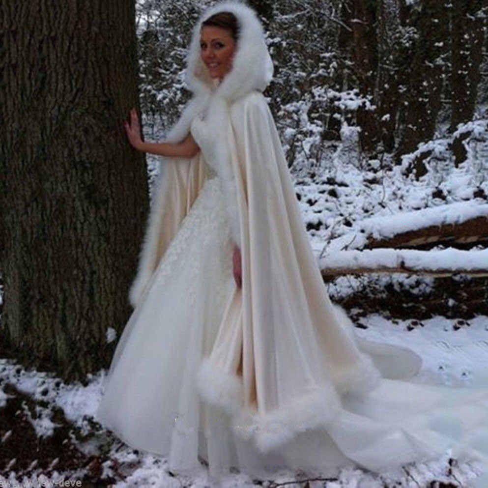 Fashion Gorgeous Cape Winter Bridal Shrug Wedding Jacket Long White Cloak Wraps Hooded Party Wraps Jacket Wedding Jacket Bridal Shrugwinter Bridal Aliexpress Wedding Cloak Winter Wedding Dress Christmas Wedding Dresses [ 993 x 993 Pixel ]