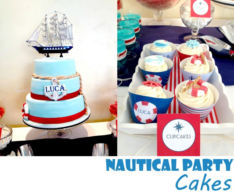 Nautical Party Cakes nicely done perfectly matching a nautical