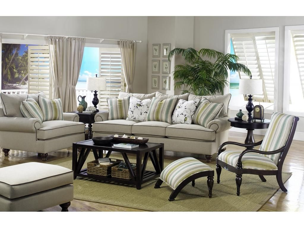 Superior Paula Deen By Craftmaster Living Room Three Cushion Sofa P711750BD    CraftMaster   Hiddenite, NC