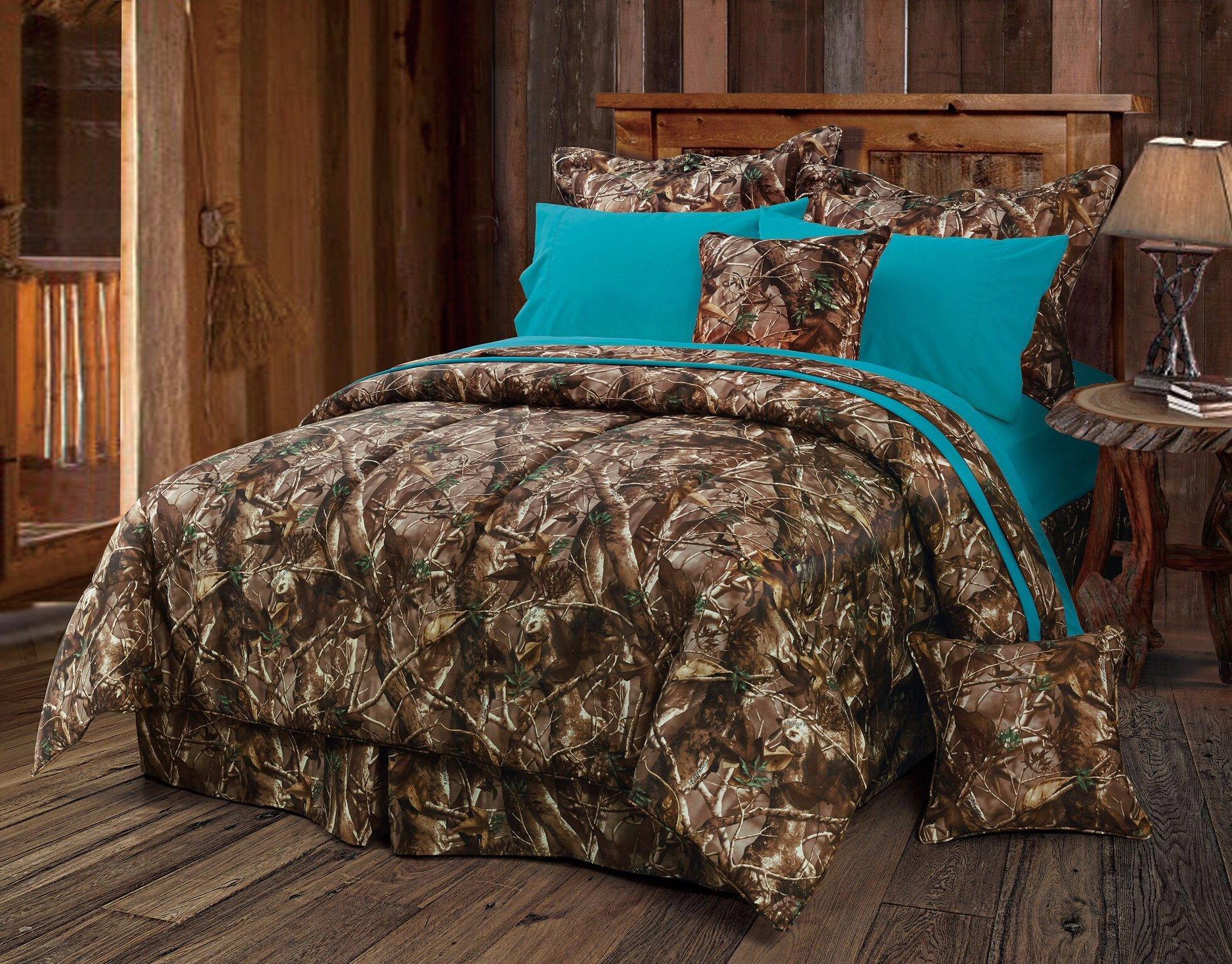 Turquoise Oak Timber Camo Comforter Set   Comforter sets ...