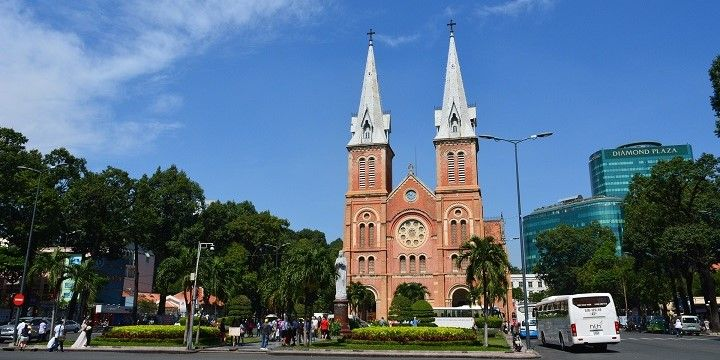 Notre-Dame Cathedral Basilica of Saigon, Ho Chi Minh City, Southern Vietnam, Asia