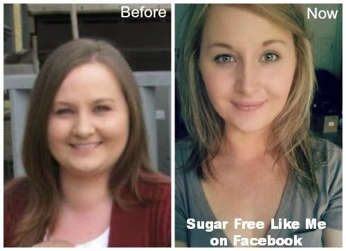 sugar free diet before and after pictures