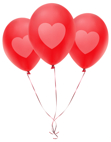 red balloons with heart transparent png clip art image ballons