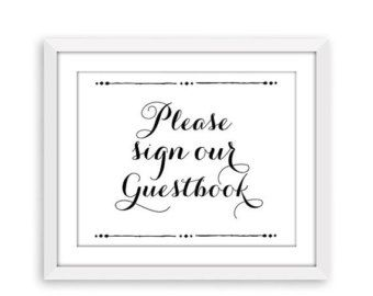 guest book sign template
