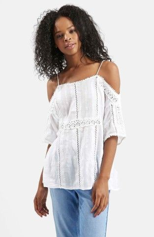 39858fdf39f95f White lace on point from Topshop, $80 | Keep Favorites | Lace cold ...