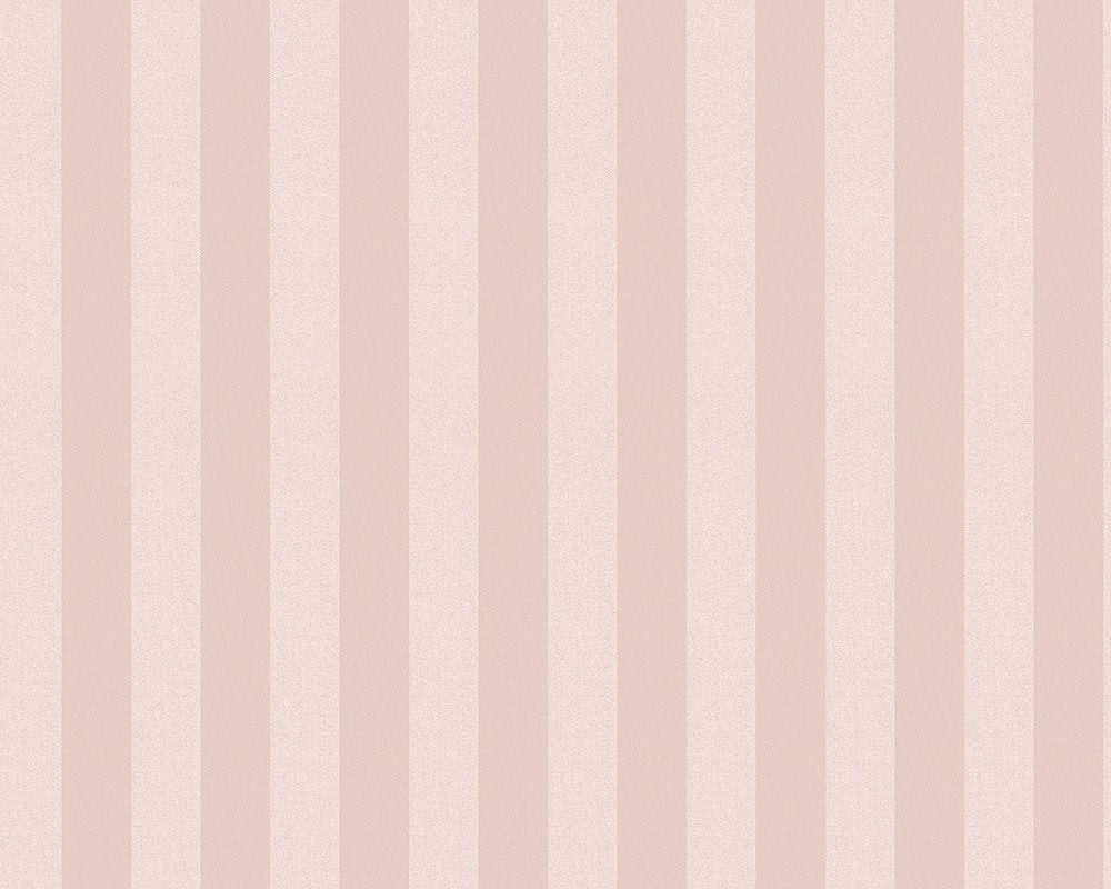 A S Creation Vliestapete Streifen Rosa 312150 Gestreifte Tapete Tapeten Tapete Grau