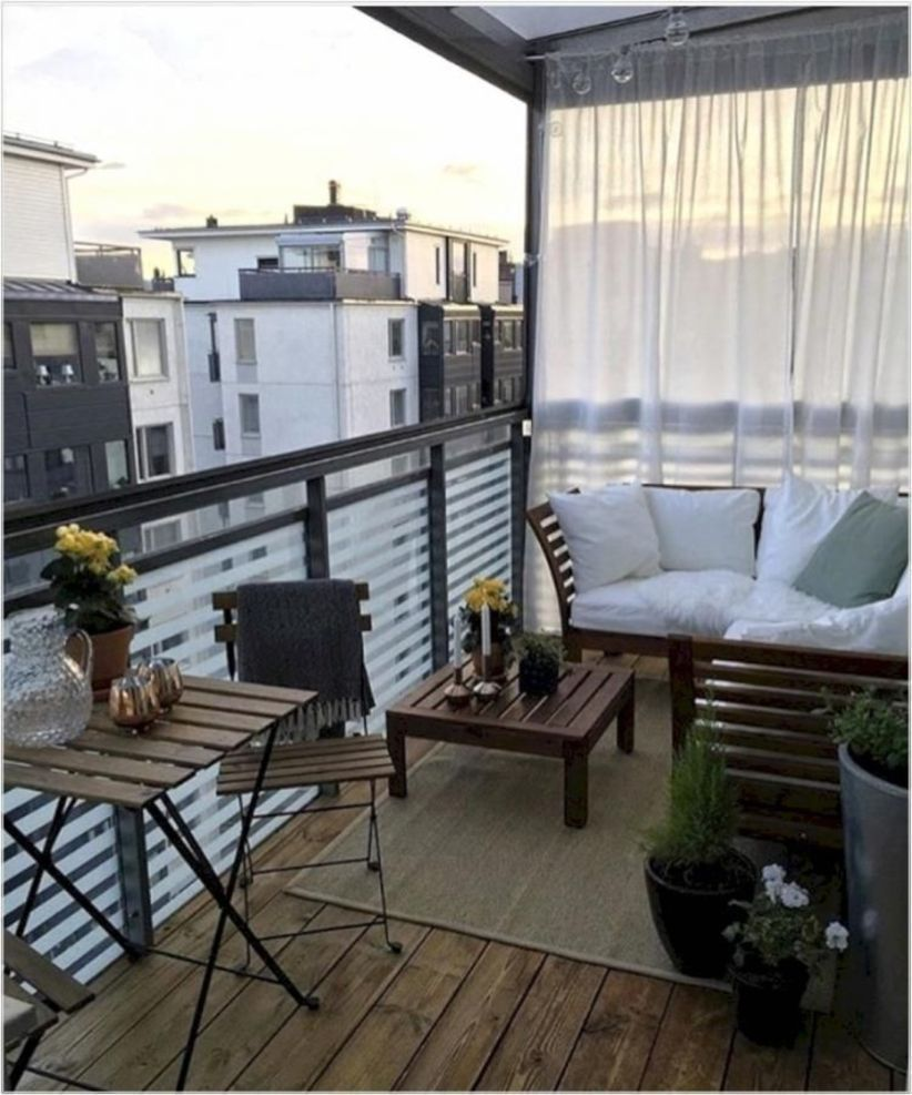 The Best Apartment Terrace Ideas You Can Try 13 Small Apartment