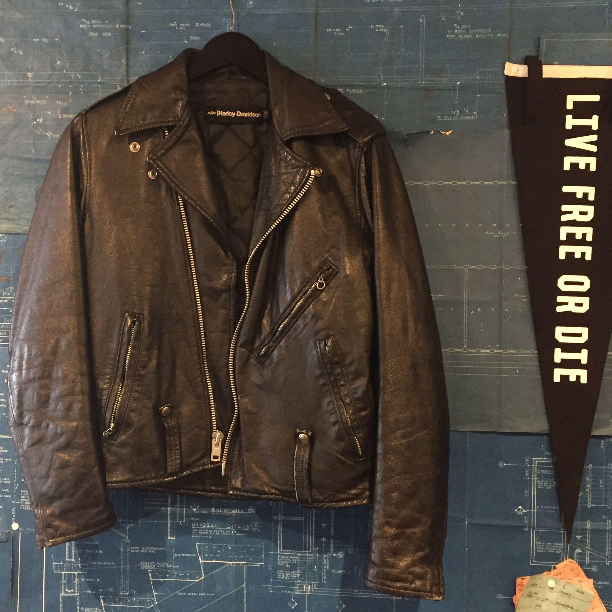 Tsy Vintage Amf Harley Davidson Leather Jacket Size 36 Reg Harley Davidson Leather Jackets Leather Jacket Jackets [ 2048 x 2048 Pixel ]
