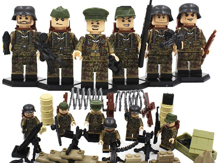 WW2 CUSTOM COMPATIBLE PARATROOPER MINI FIGURES