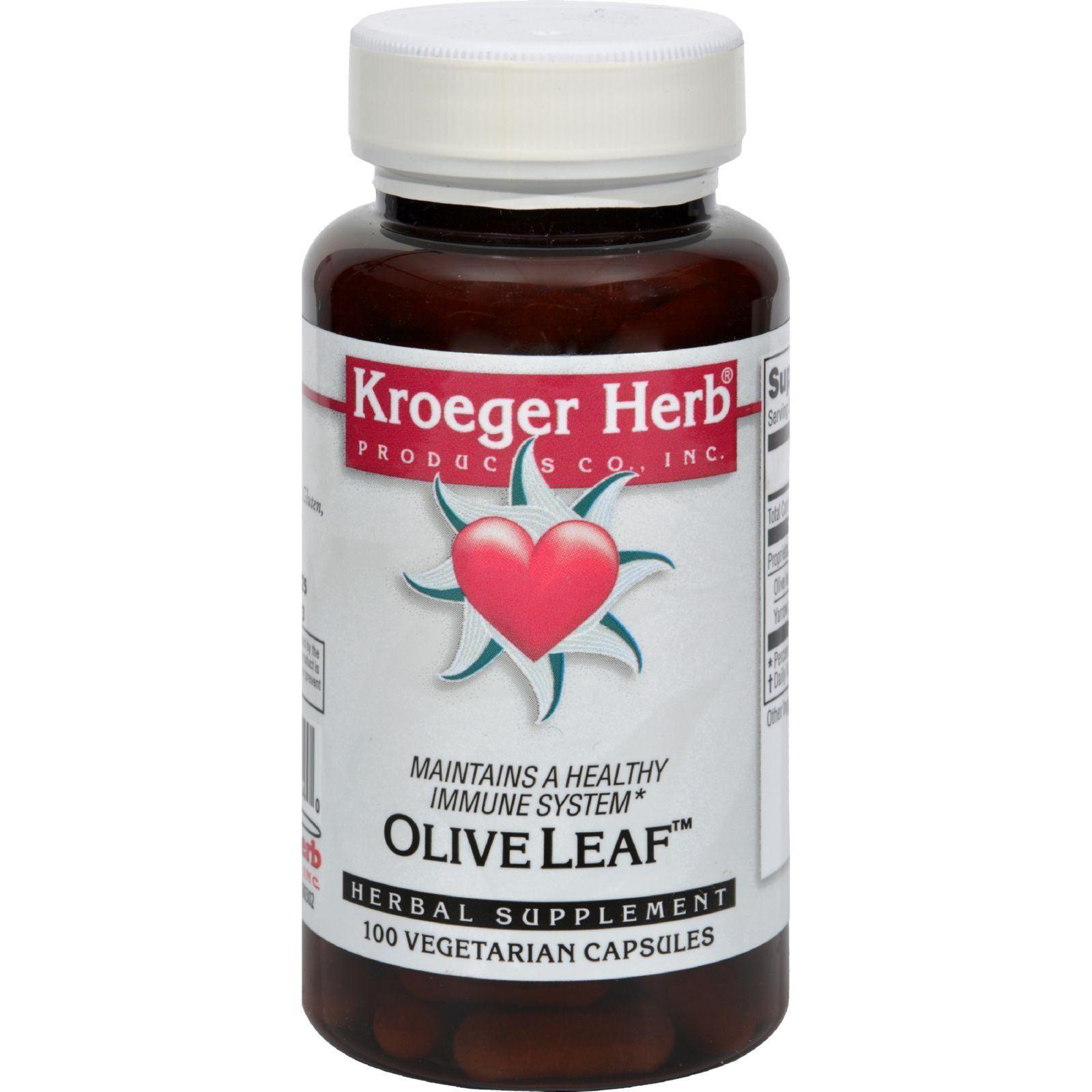 Kroeger Herb Herb Co Olive Leaf 100 Caps Herb co