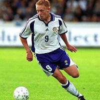 16.08.2000 Finnair Stadium, Helsinki, Finland. Friendly match Finland v Norway. .Mikael Forssell (FIN)..©JUHA TAMMINEN
