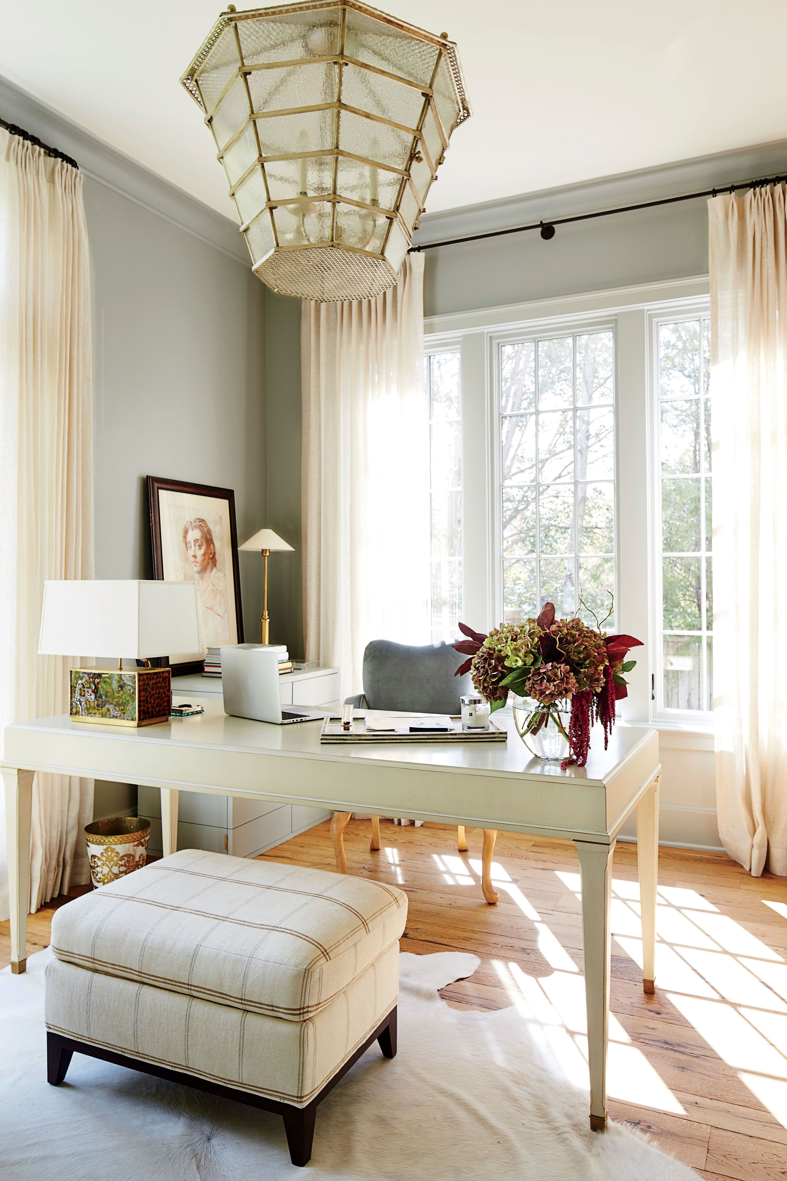 Home Office in the living room | House-office | Pinterest | Living ...