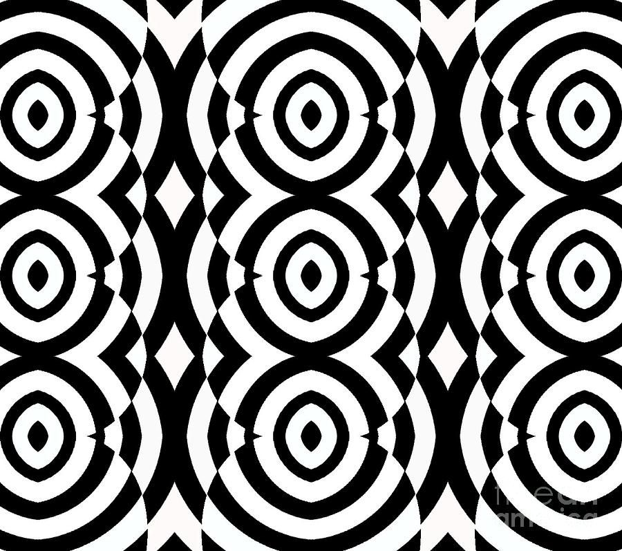 Black and white op art pattern no 249 by drinka mercep black