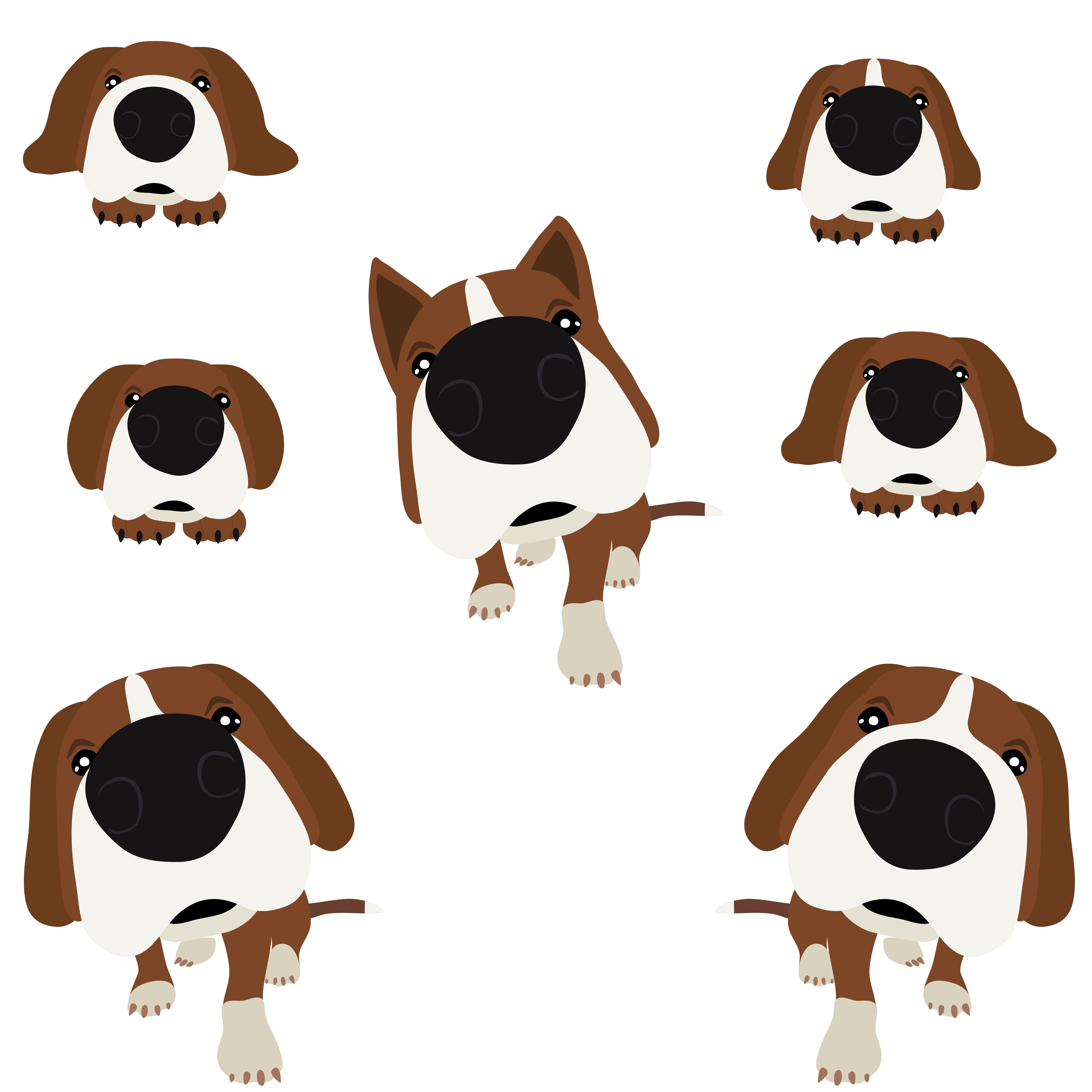 Dog With Big Head And Nose Dogs Nose Art Dog Bones