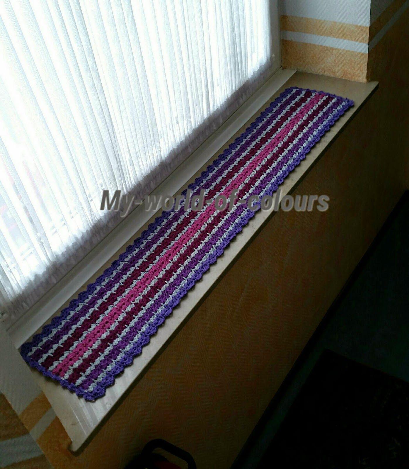 My world of crochet: Ein Deckchen für die Fensterbank! | Crochet ...