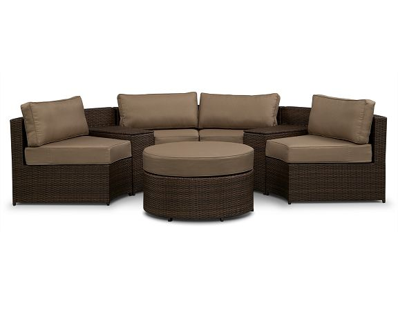 Ordinaire Gallery Outdoor Furniture Collection   Value City Furniture 5 Pc. Sectional  And Cocktail Ottoman $1,199.99