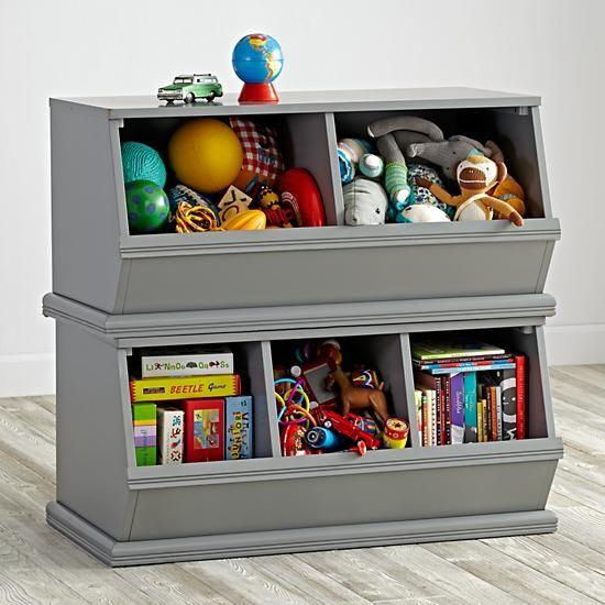 Storagepalooza Grey The Land Of Nod Toy Room Storage Kids