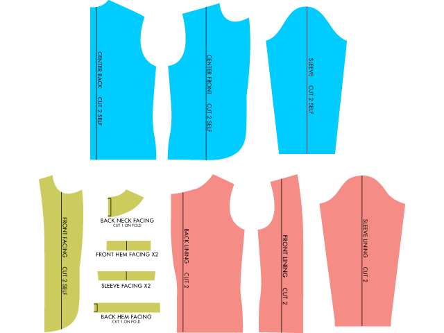 Pattern Tutorial Adding Lining To An Unlined Blazer