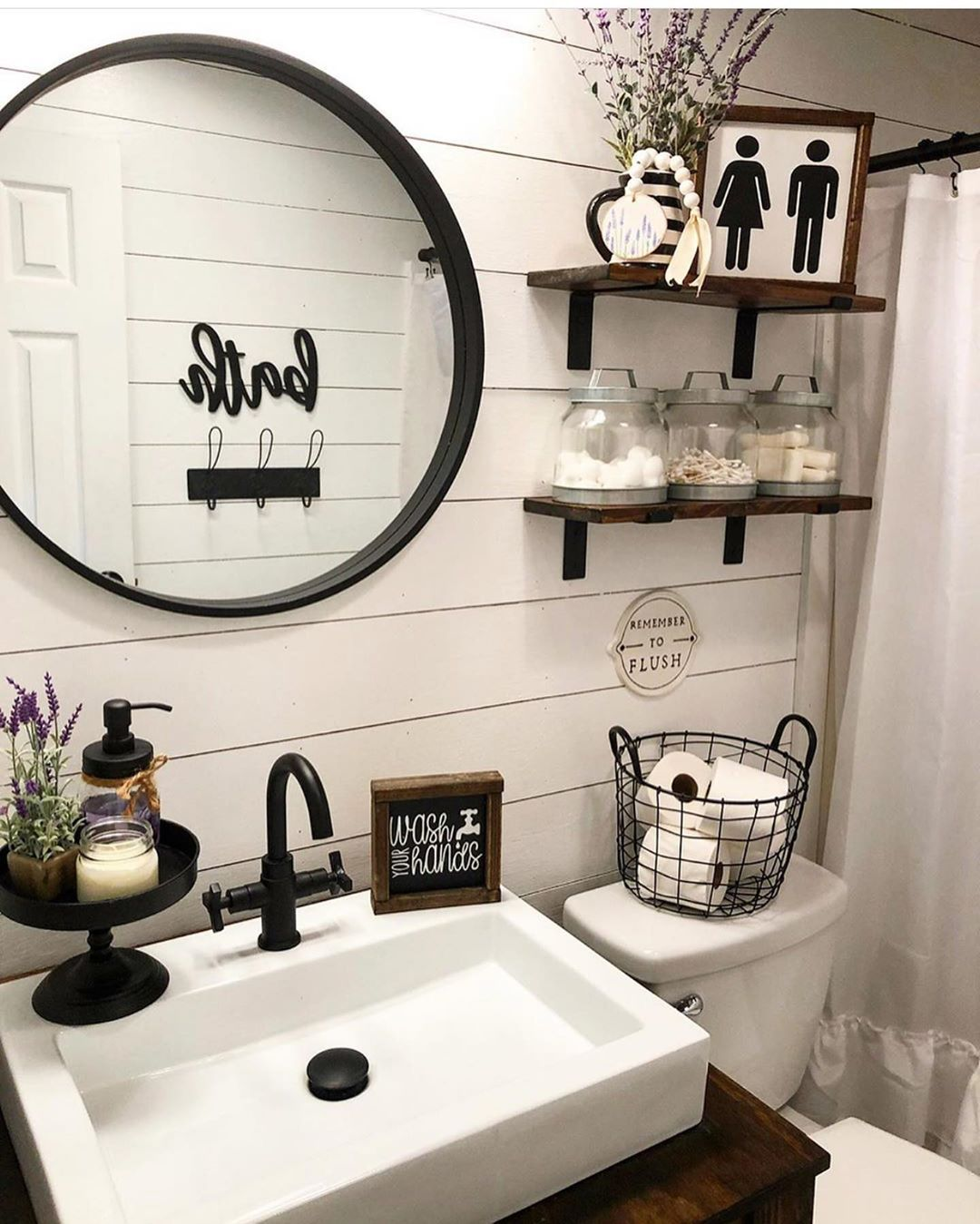 Farmhouse Vibes On Instagram Y All We Had The Best Time At The Luke Combs Concert Last Night He Was Grea Small Bathroom Decor Bathroom Decor Restroom Decor
