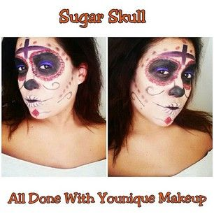 Sugar Skull Halloween Makeup Using all Younique Products. www ...