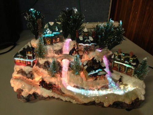 Avon Fiber Optic Christmas Village | Christmas Village Fiber Optic ...