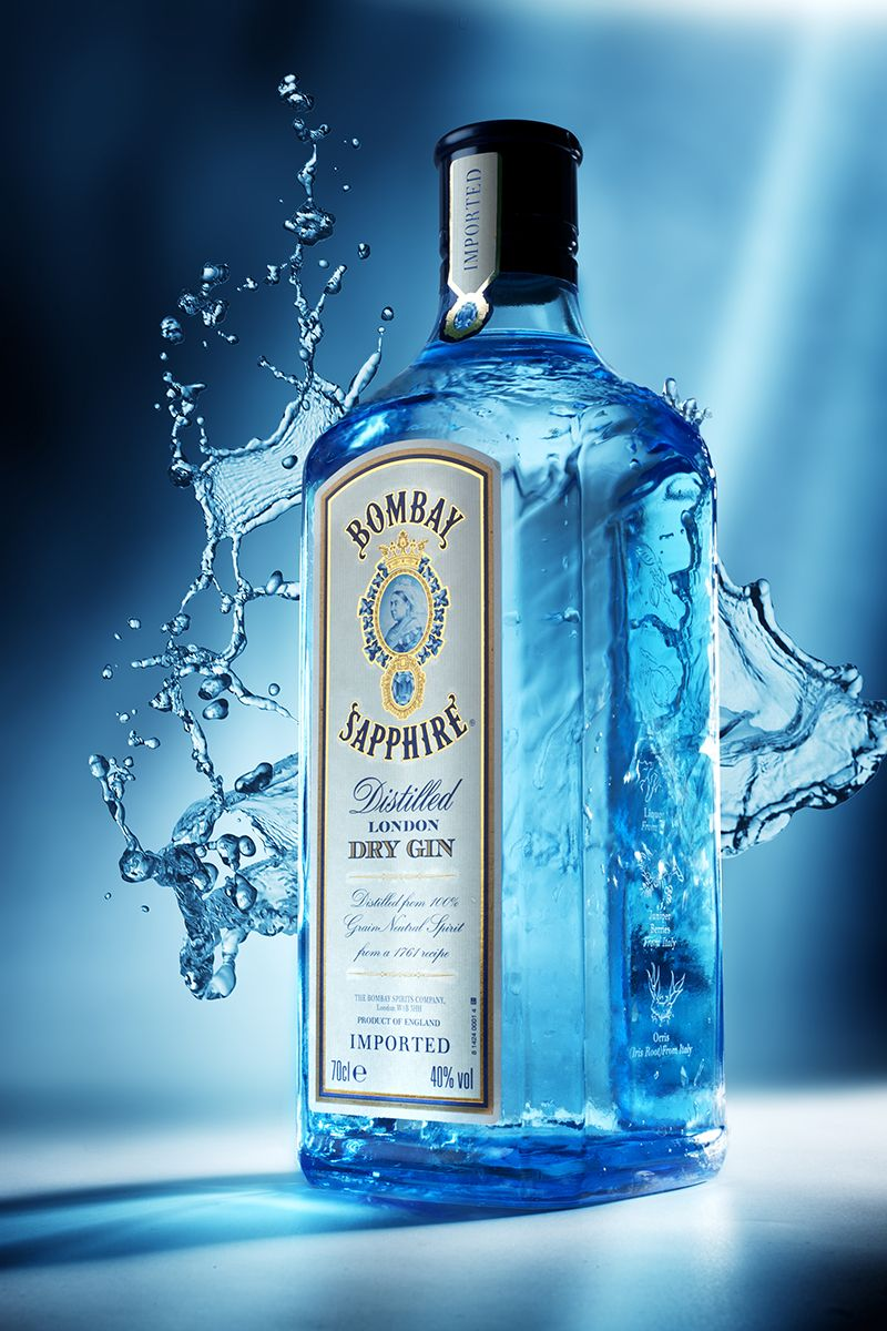 Bombay Sapphire Alcohol Packaging Wine Drinks London Gin