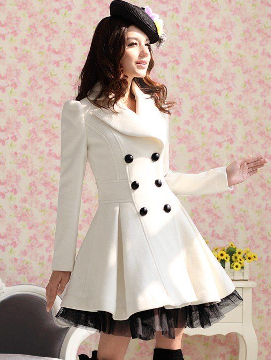 Womens white coats and jackets – Novelties of modern fashion photo ...