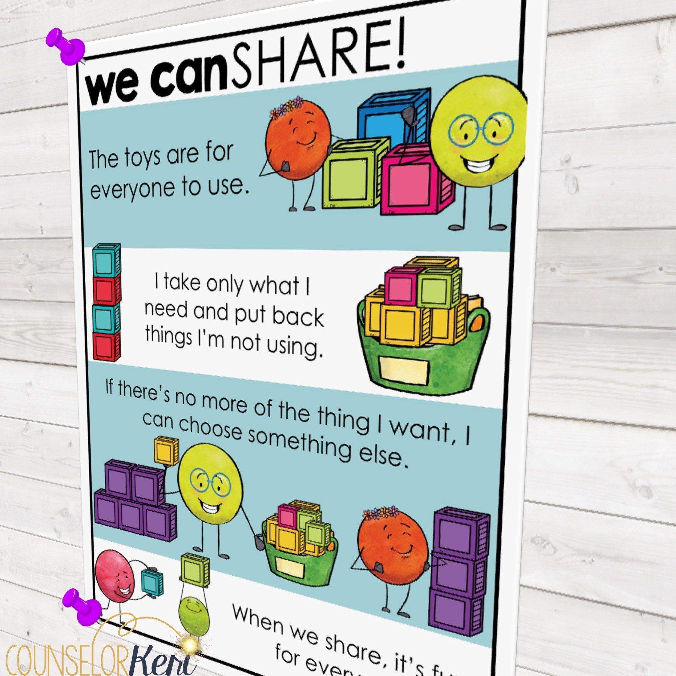 Teach Kids To Share Kindergarten Social Skills Group