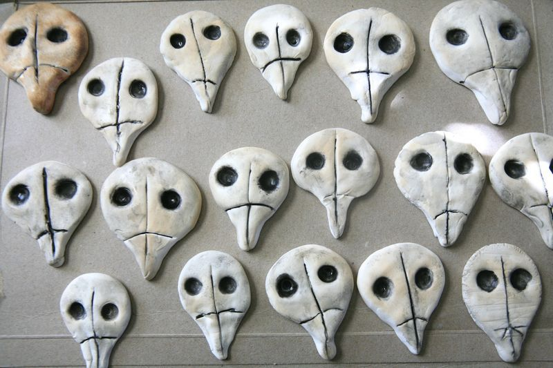 Clay skulls