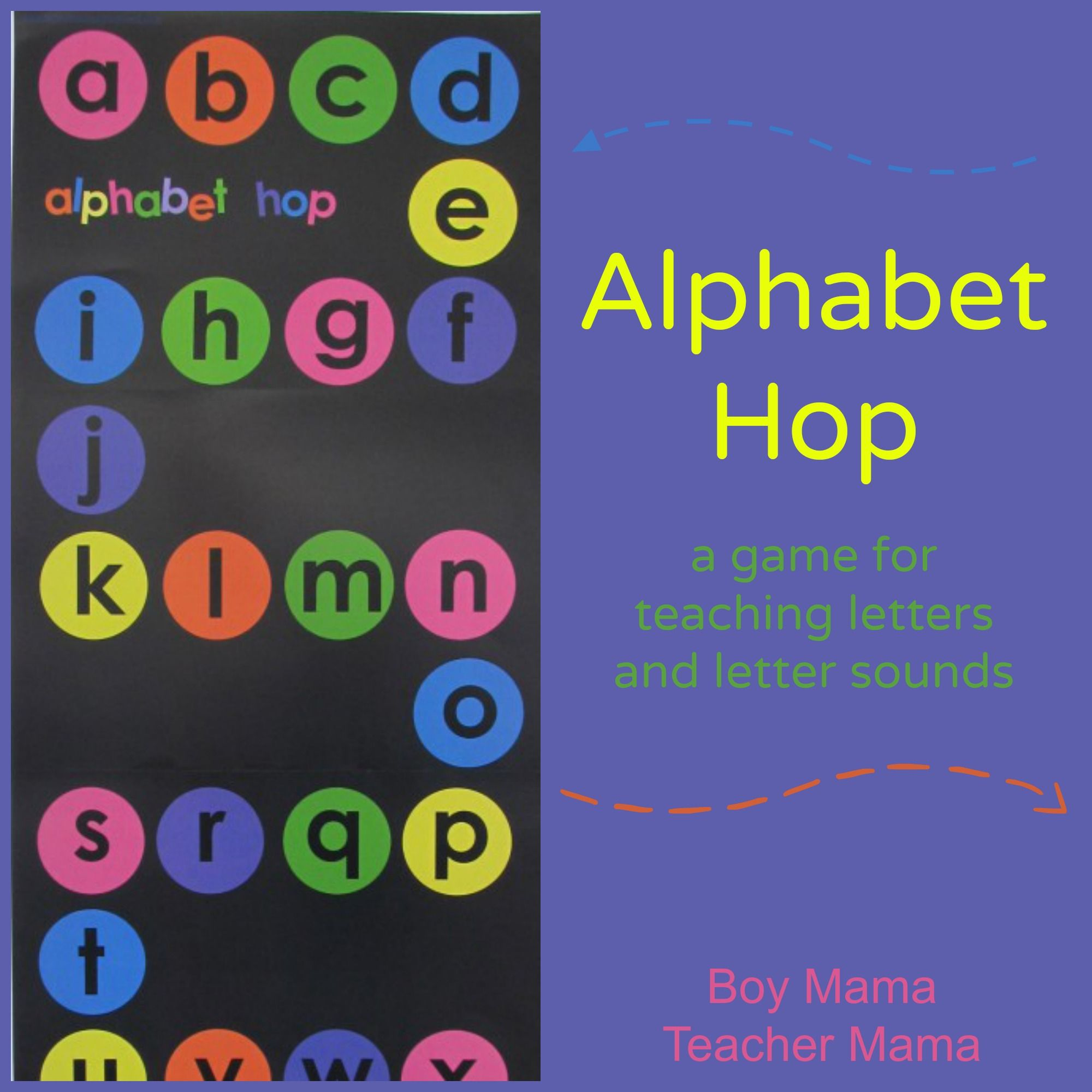 Boy Mama Alphabet Hop A Game for Practicing Letters and