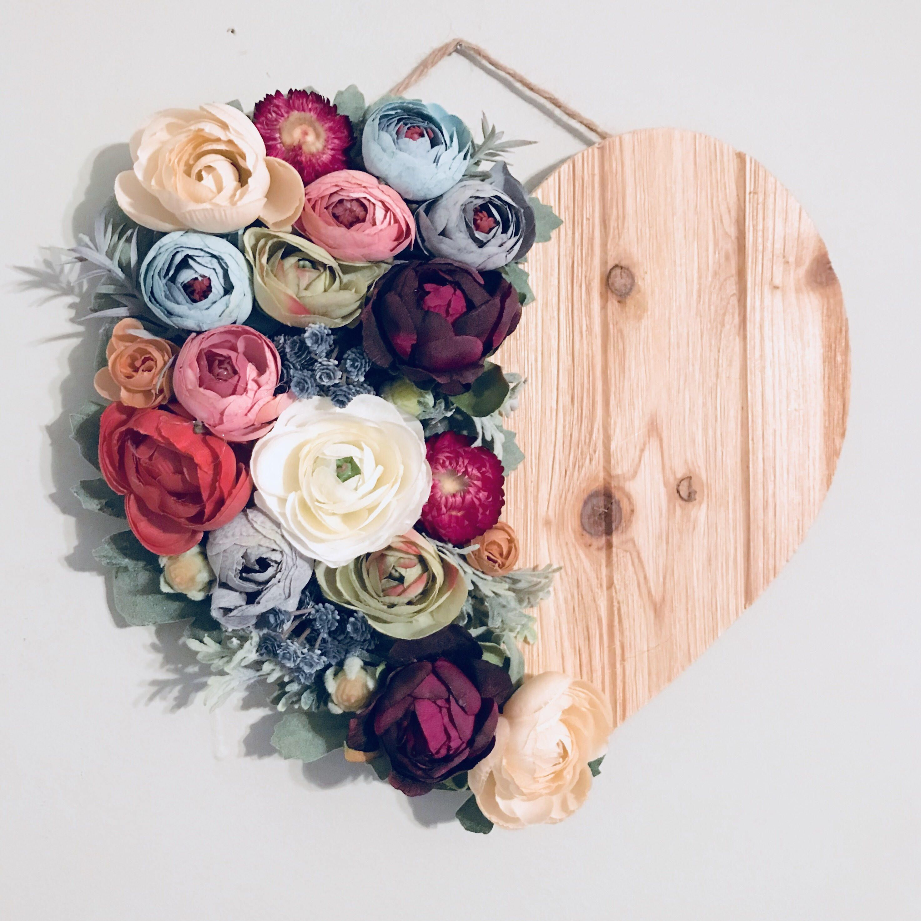 Floral Heart Floral Wall Hanging Wood Heart Flower Heart Nursery Heart Wall Hanging Flower Wall Art Flower Wall Decor Nursery Decor & Floral Heart Floral Wall Hanging Wood Heart Flower Heart Nursery ...