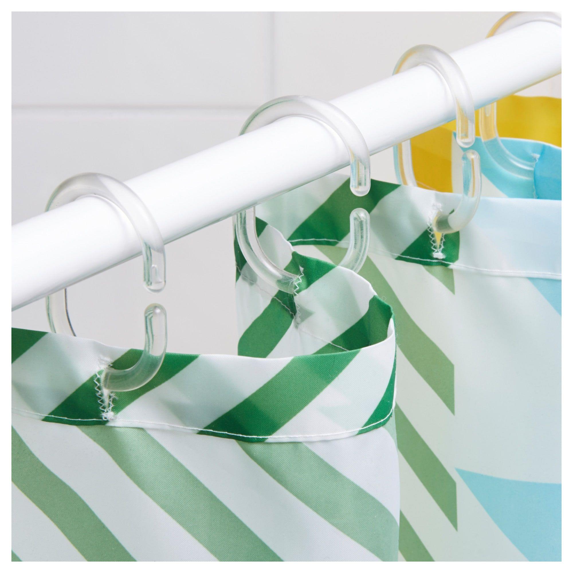 Ringsjon Shower Curtain Rings Clear Curtains With Rings Shower Curtain Rings Diy Shower