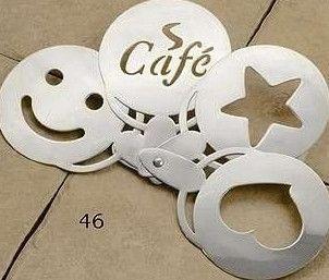 Stainless Steel Coffee Stencil 4 Set