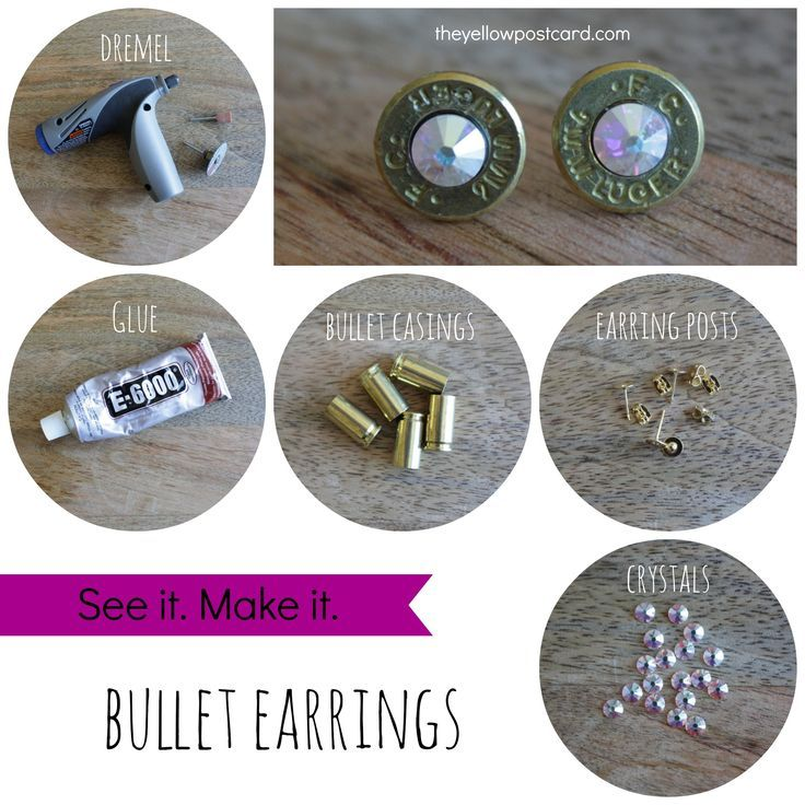 How To Make Your Own Shell Casing Earrings Bullet Casing