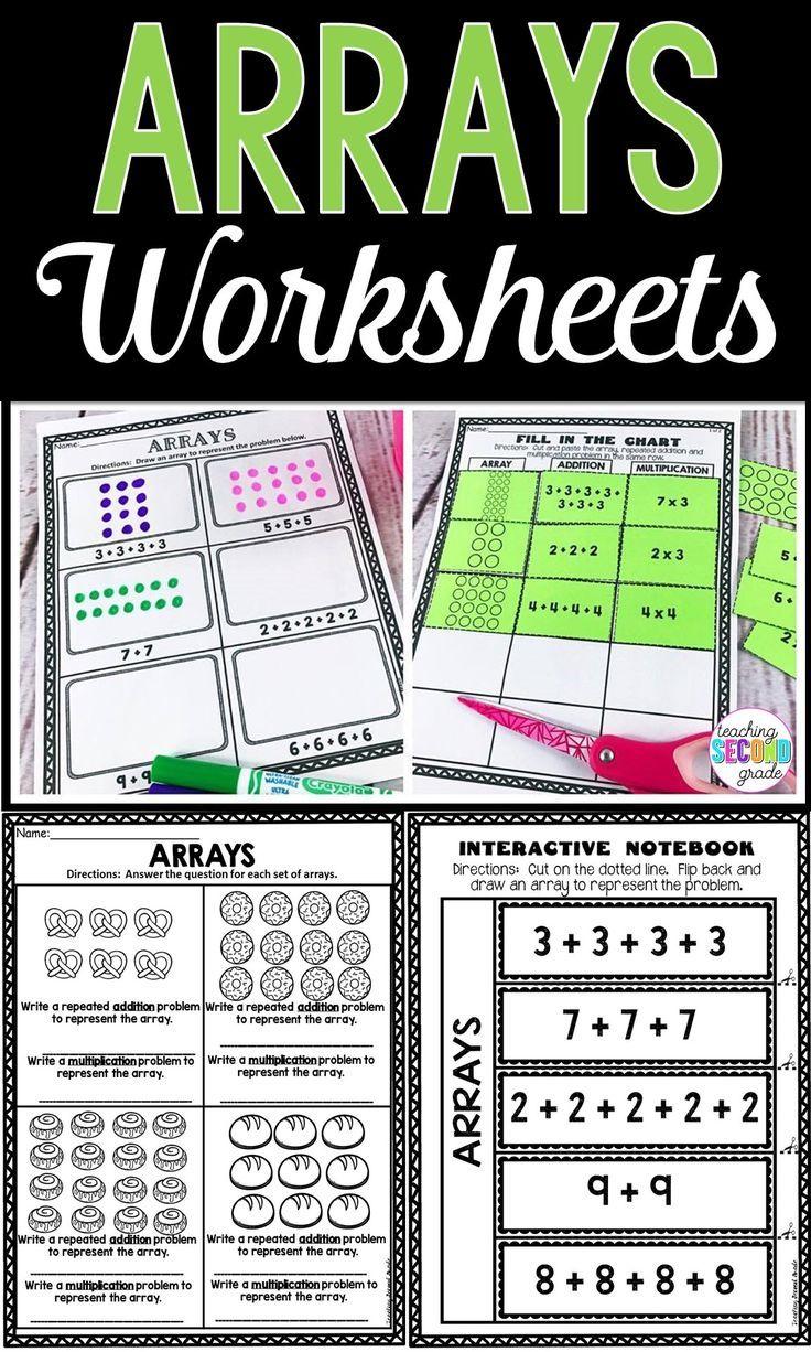 Arrays Worksheets   Array worksheets [ 1226 x 736 Pixel ]