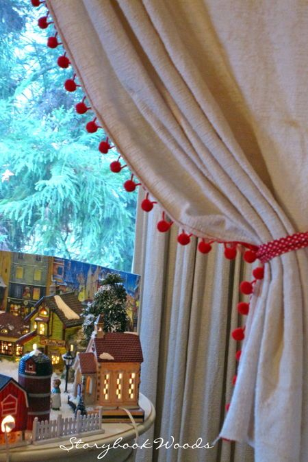 Curtain With Pom Pom Fringe Curtains No Sew Curtains Easy