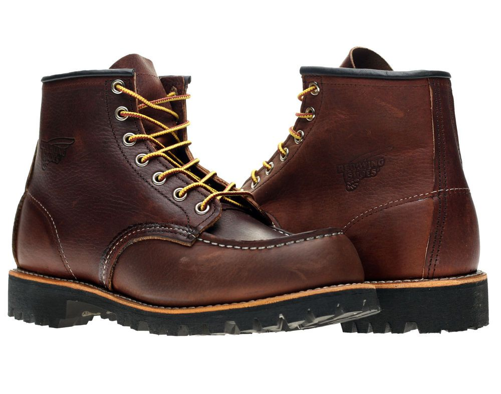 4b878cca9d16 Red Wing Heritage 8146 6-Inch Brown Classic Moc Toe Lug Sole Boots 08146   RedWing  Boots