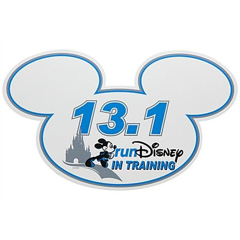 In Training RunDisney 13.1 Mickey Mouse Magnet. Have to get this!!!!!
