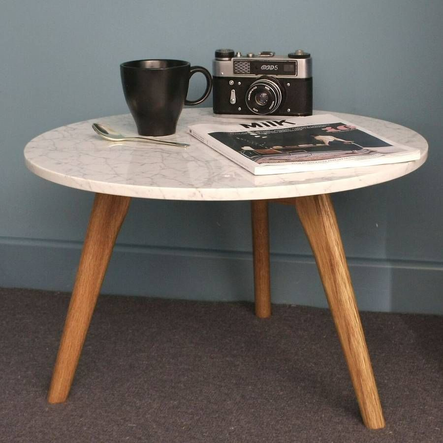 Scandinavian Style White Marble Table