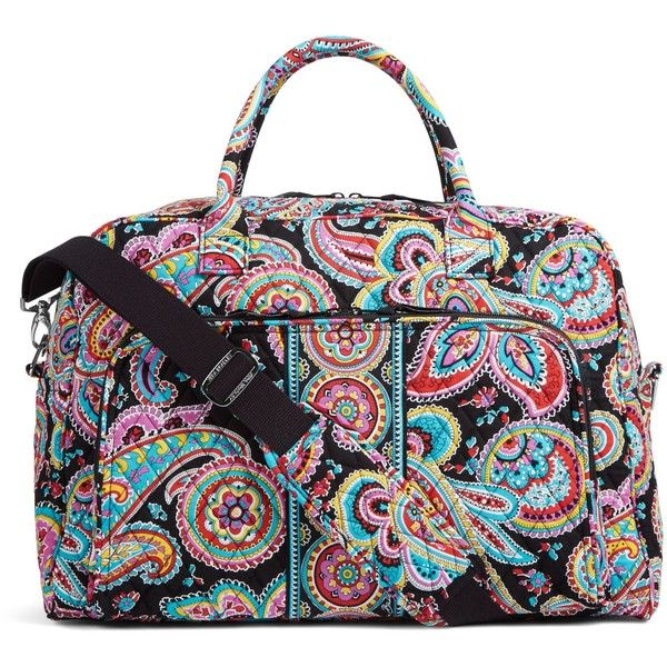 0fb800c3fa Vera Bradley Weekender Travel Bag in Parisian Paisley ( 98) ❤ liked on  Polyvore featuring bags
