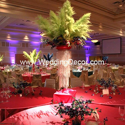 Brazilian Carnival Masquerade Wedding Reception Feathers Orchids Via Flickr