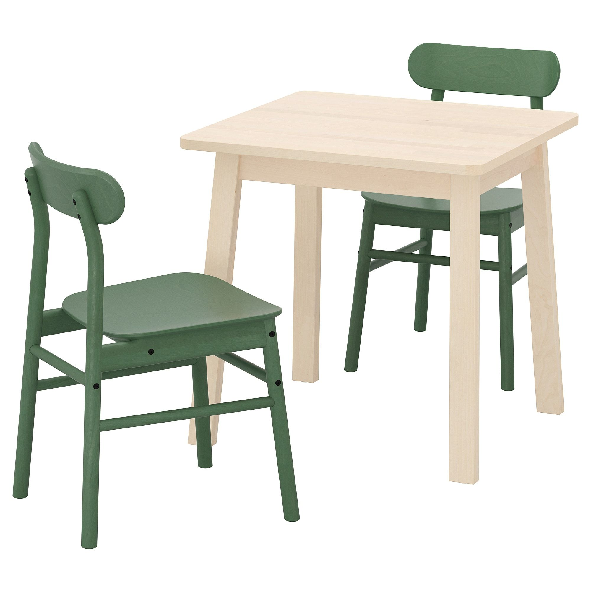 Norraker Ronninge Table And 2 Chairs Birch Green Ikea Chair Small Dining Table Set 2 Seater Dining Table